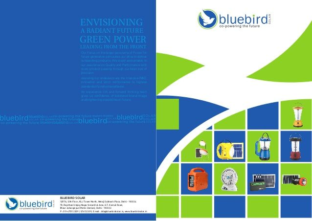 b bu bco-powering the future SOLAR BLUEBIRD SOLAR 1207A, 12th Floor, KLJ Tower…