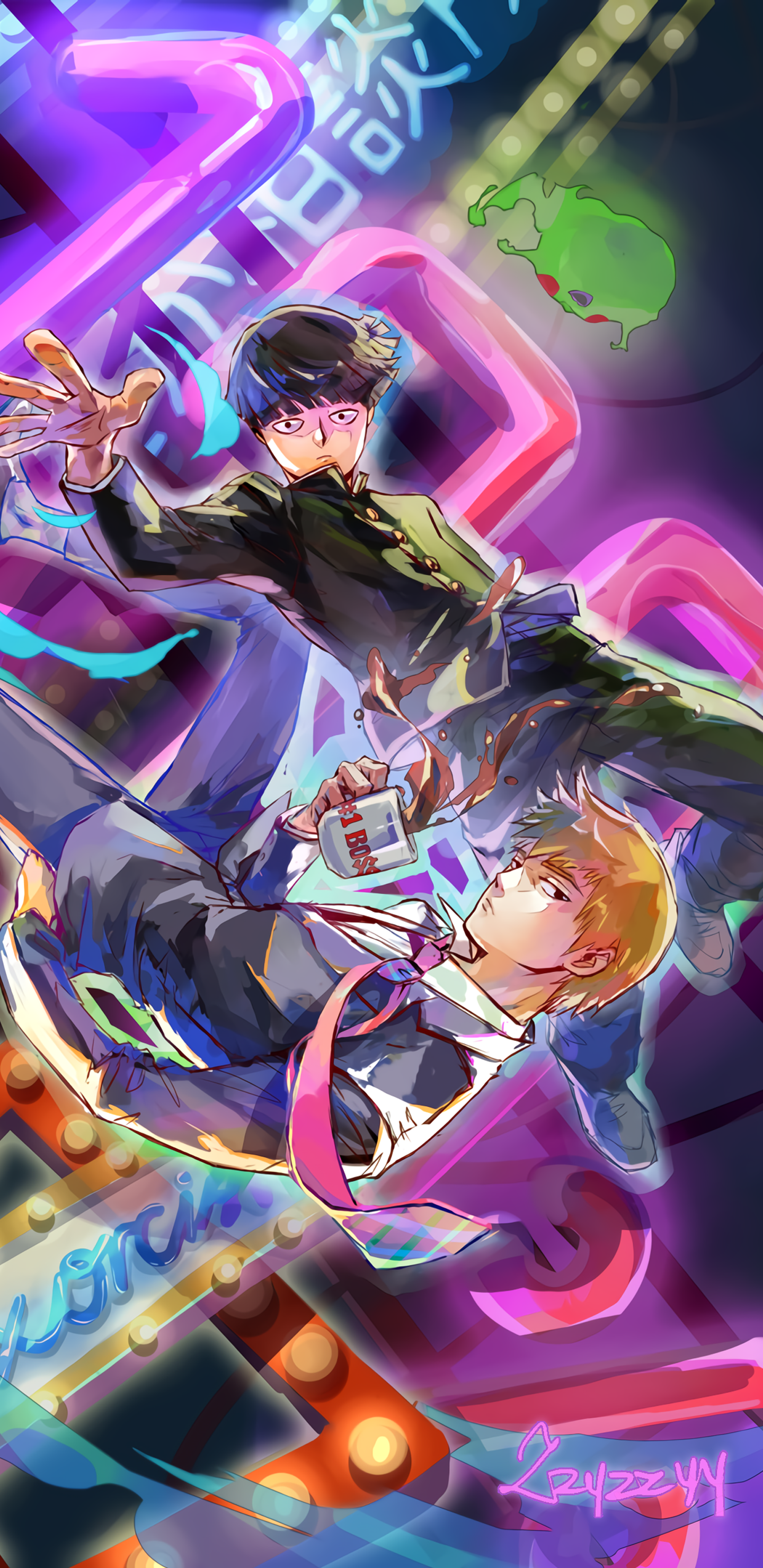 Mob Psycho 100 1440x2960 Wallpapers Art Indieartist Mob Psycho 100 Anime Mob Psycho 100 Wallpaper Mob Psycho 100