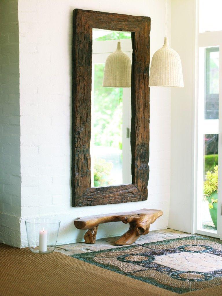 reclaimed wood bathroom mirror. Reclaimed Wood + Discarded Oversize Bathroom Mirror. Inspired By @Mary Powers Jaasma Mirror E