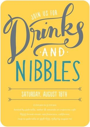 Drinks and Nibbles - Corporate Event Invitations - Petite Alma ...