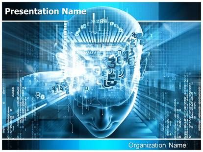 digital #brain #artificial #intelligence #powerpoint #templates, Presentation templates