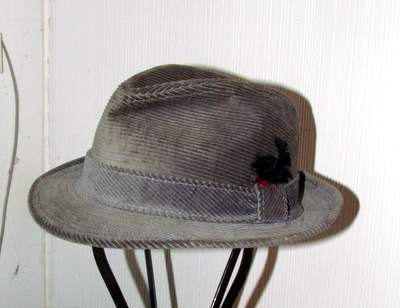 Fabulous Grey Corduroy Men's Fedora by BeauMondeVintage on Etsy, $30.00