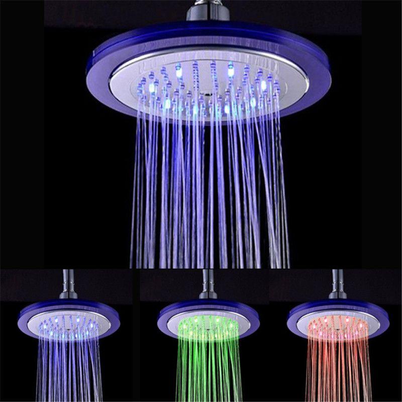 Temperature Controlled Led Shower Head Color Changes Shower Faucet Single Holder Dual Control Design For Sale Ld8030 C4 Bathroom Shower Heads Shower Heads Led Shower Head