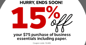 Staples 25 Off 75 Coupon 16 Digit Code Coupons Coding Business Essentials