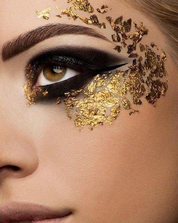 3 Pieces 24K Pure Gold Leaf Festival Makeup // Silver Foil Face Decoration // Body Nail Art