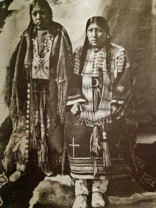 What Did Cheyenne Indians Wear   Two Northern Cheyenne Indian Women