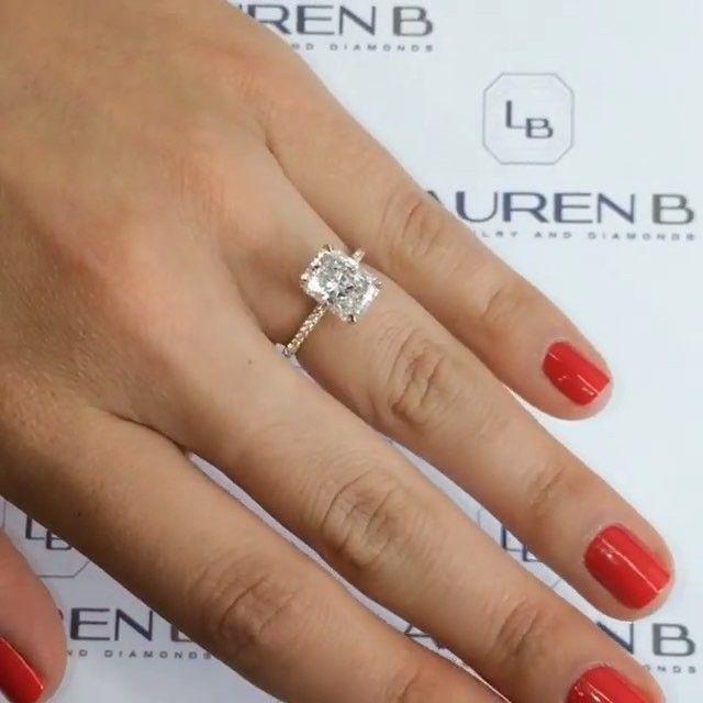3 Carat Elongated Radiant Cut Diamond Jewelry Goals Via