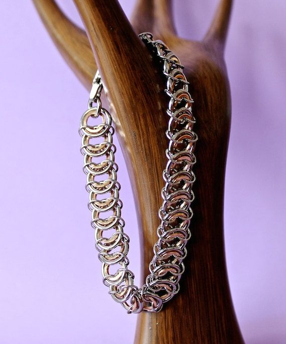 Stainless Steel and Bronze Kingscale Chainmaille by CaptiveRingz