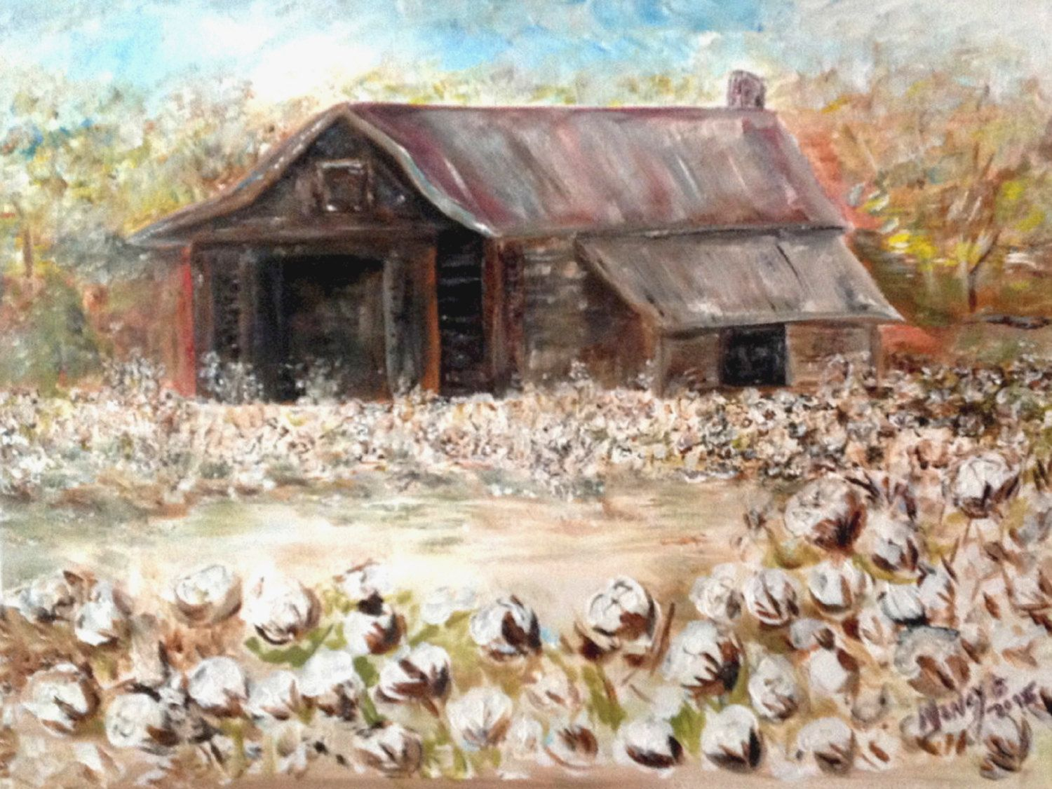 Cottonville, NC- by artist Nancy B. Brewer- choose print- canvas ...