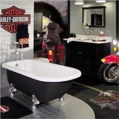 Harley Davidson Bathroom Decor With Images Harley Davidson Decor