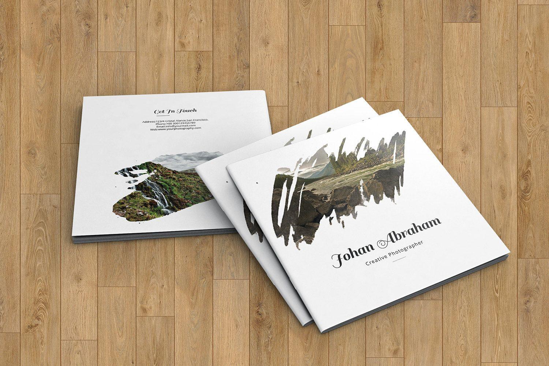Square Portfolio Brochure Template | Photographer Porfolio Template ...