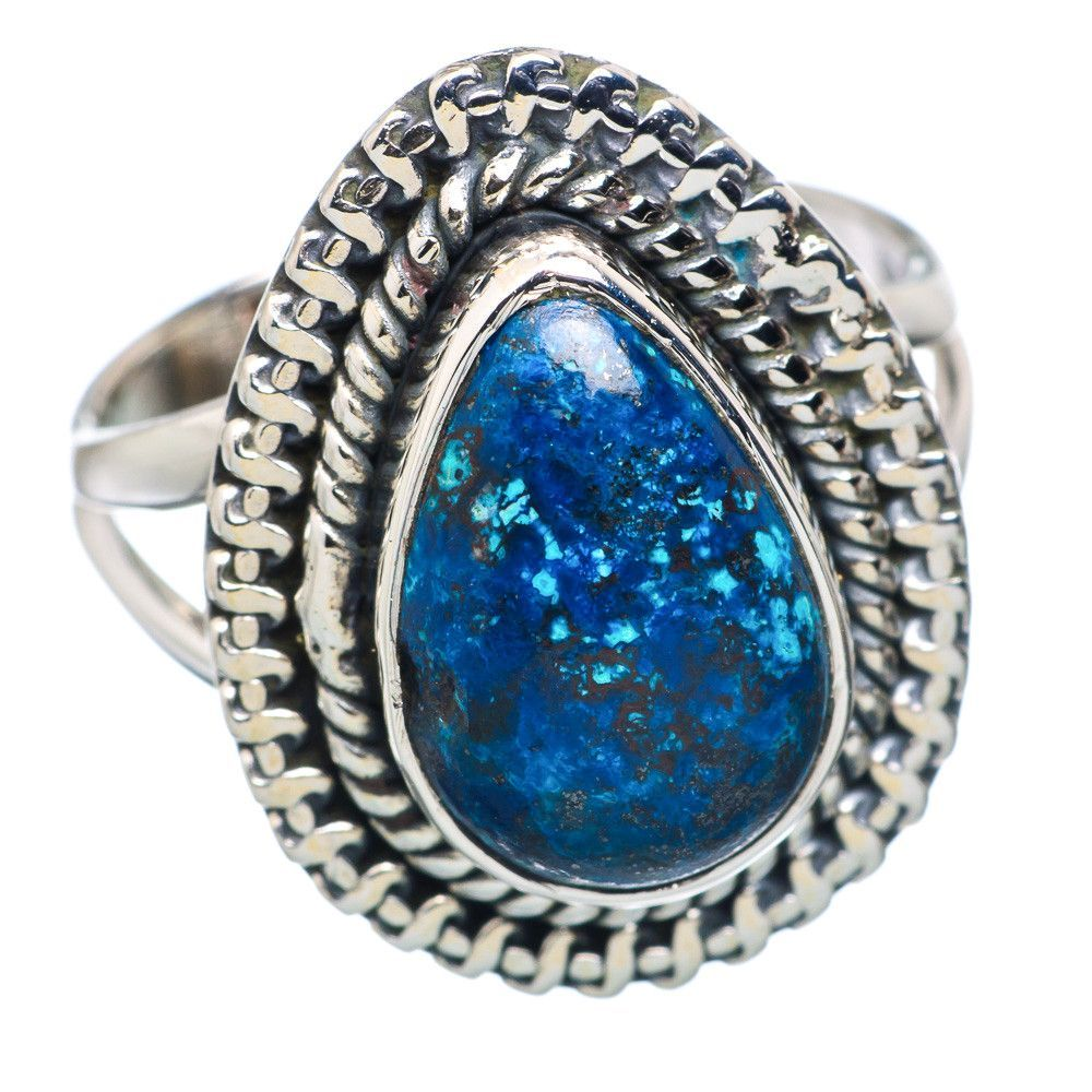 Shattuckite sterling silver ring size ring products
