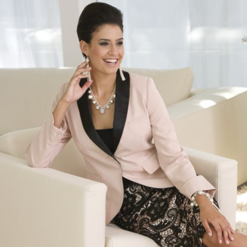 Gala Tux Jacket from Monroe and Main. Fashion Fit for You in Misses & Plus Sizes. www.monroeandmain.com
