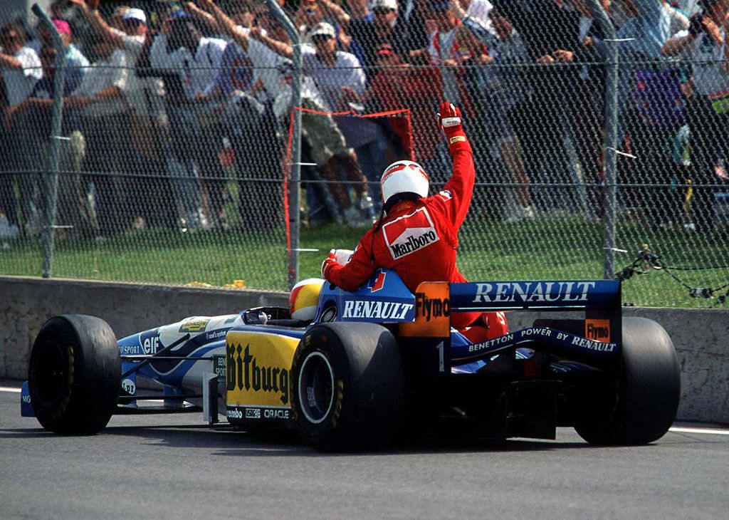 Jean Alesi and Michael Schumacher (Canada 1995) Michael