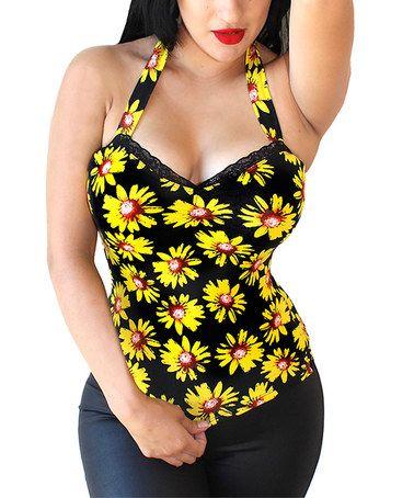 Another great find on #zulily! Black Sunflower Sin Halter - Women & Plus #zulilyfinds