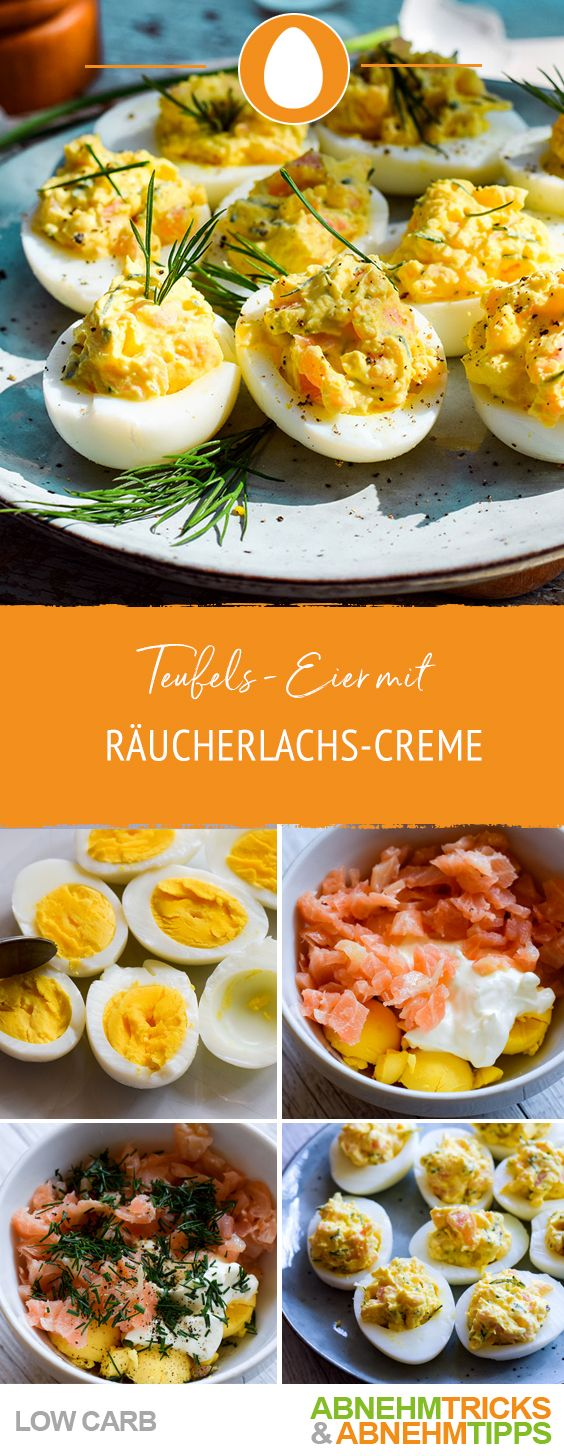 Photo of Low carb devil eggs filled with smoked salmon cream