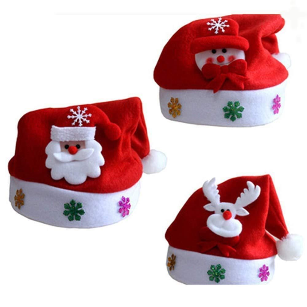 769a2de63b262 Christmas Glowing Hat LED 3 Pack Blinking Adults Kids Snowman Reindeer Santa   fashion  clothing  shoes  accessories  costumesreenactmenttheater   accessories ...