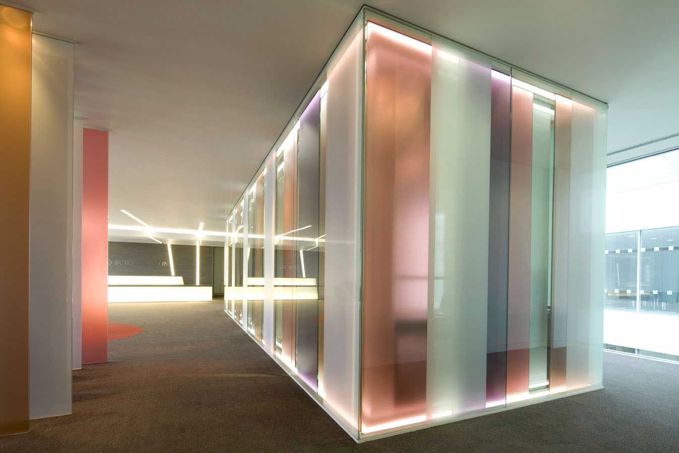 Rainbow Office Glass Partitions Ceiling Style Partitions