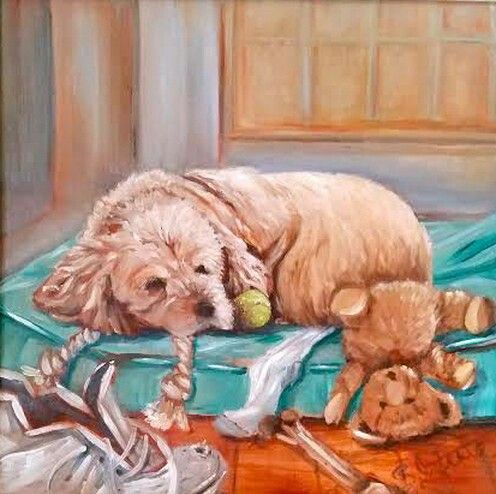 Favourite things. Cocker spaniel painting.