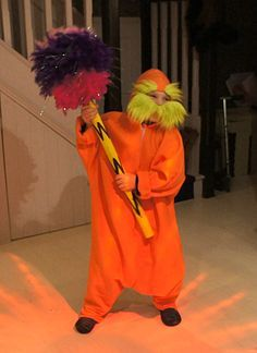 Diy The Lorax Costume Book Week Costume Lorax Costume Dr Seuss Costumes