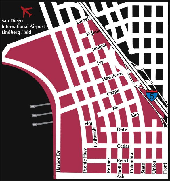 Little Italy San Diego Map.Little Italy San Diego Neighborhood Map Little Italy Pinterest