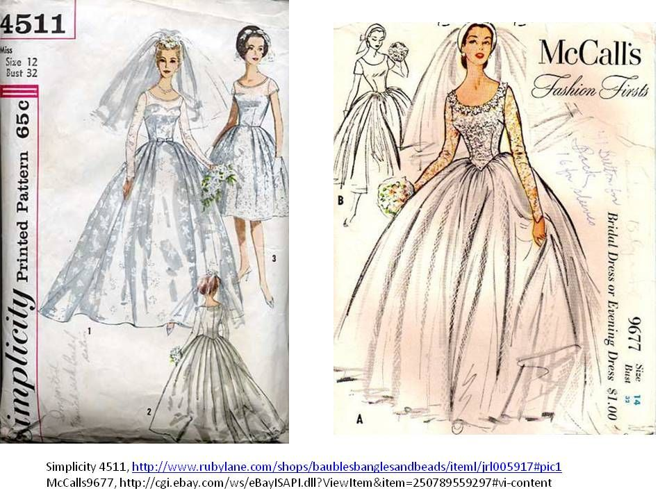 Sewing Patterns For Vintage Wedding Dresses | Reclom Gown ...