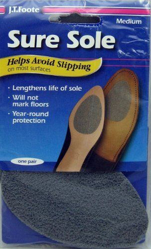 Sure Sole Anti Skid No Slip Shoe Pads 1 Pair Medium By