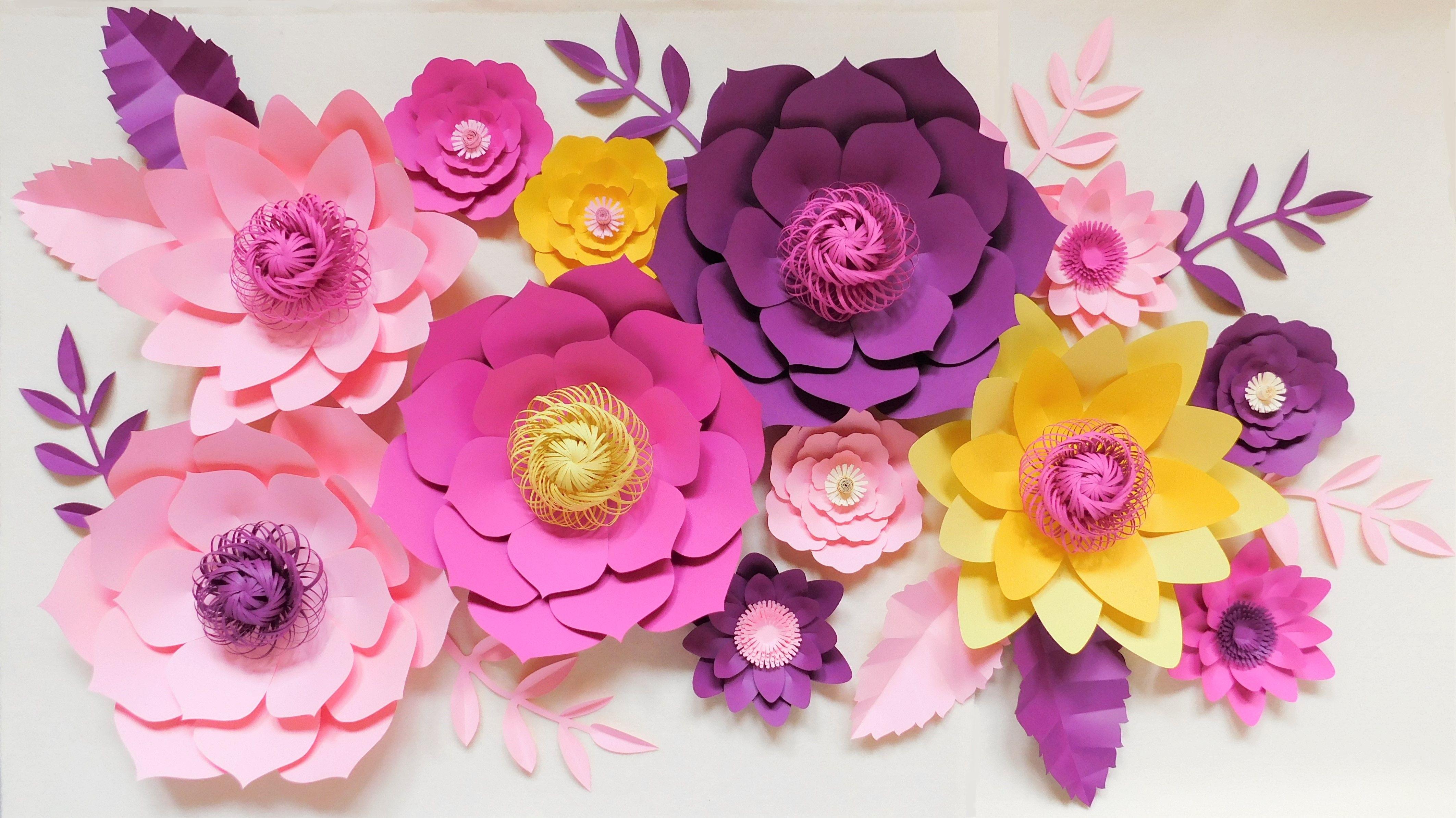 Kwiaty Z Papieru Paper Flowers Flower Backdrop Wedding Decorations