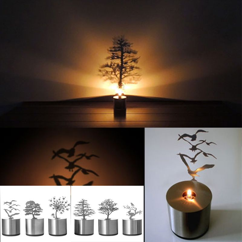 Novelty Shadow Projection Lamp Romantic Atmosphere Led