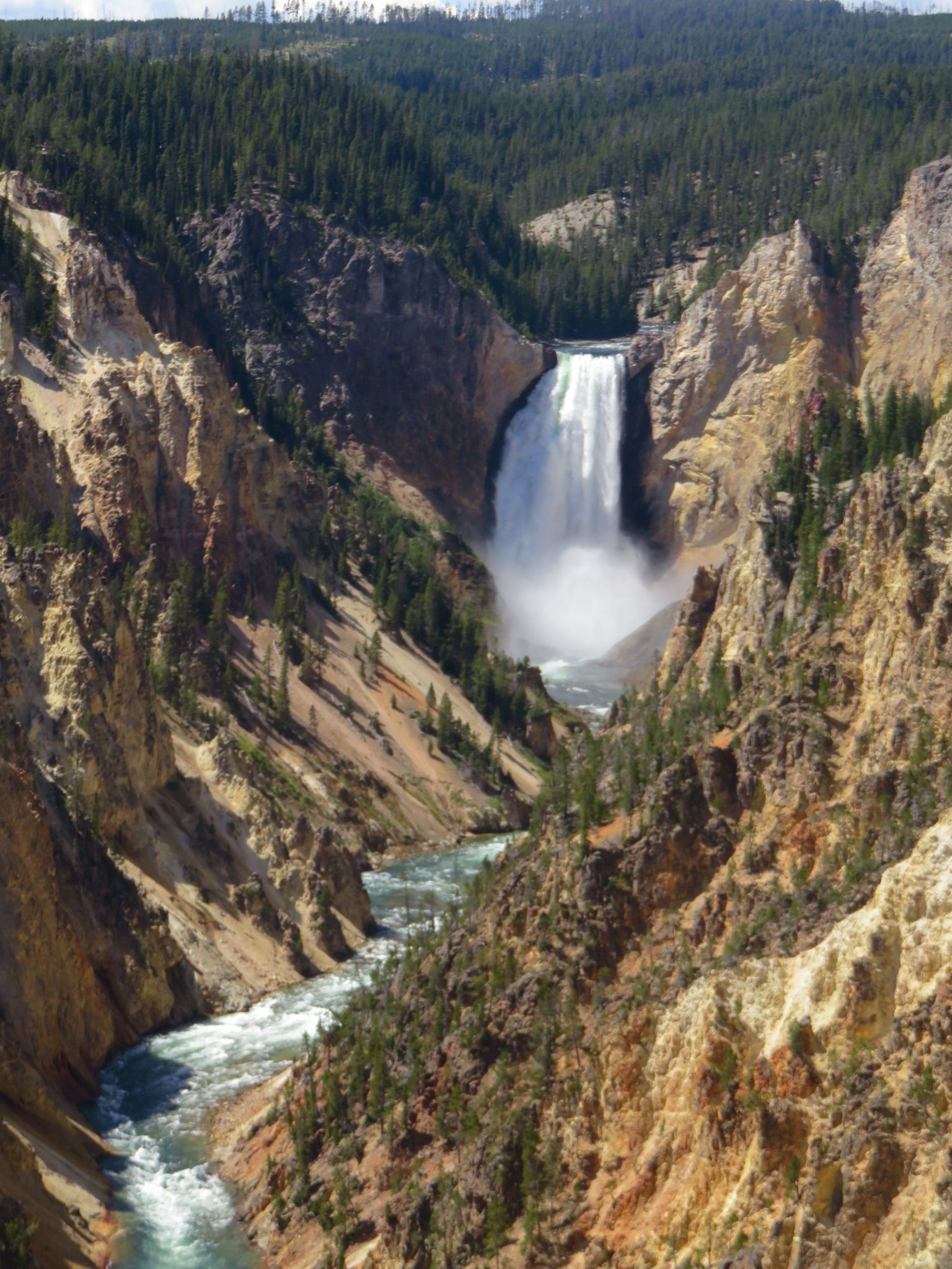 Artist's Point, Yellowstone. Yellowstone, Outdoor, Waterfall