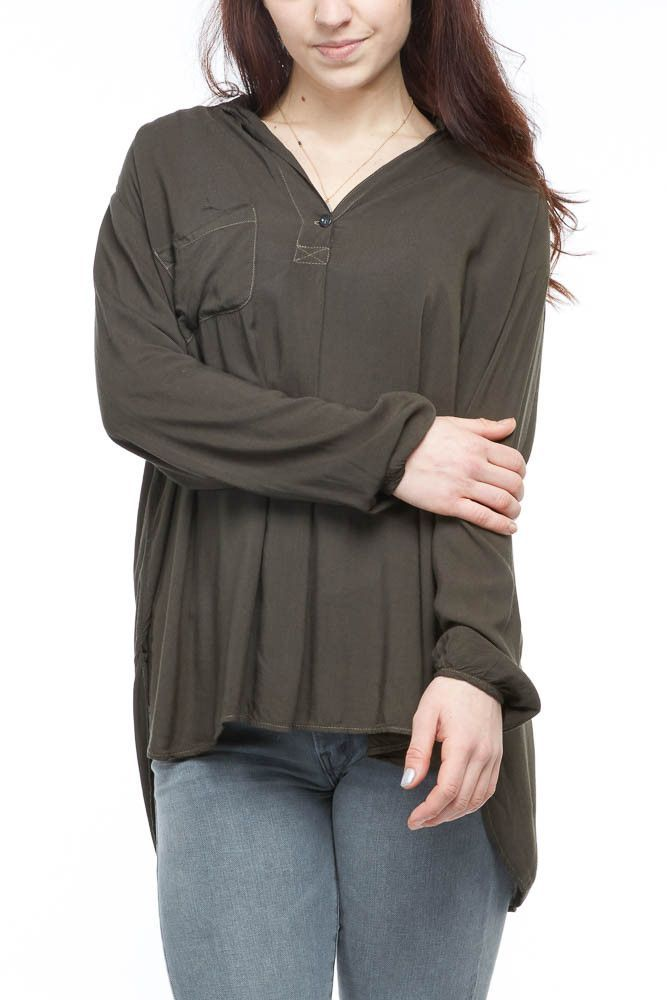 Hard Tail L/S Tunic in Olive
