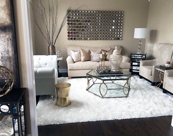 My Formal Living Room With Copper Accents And White Faux