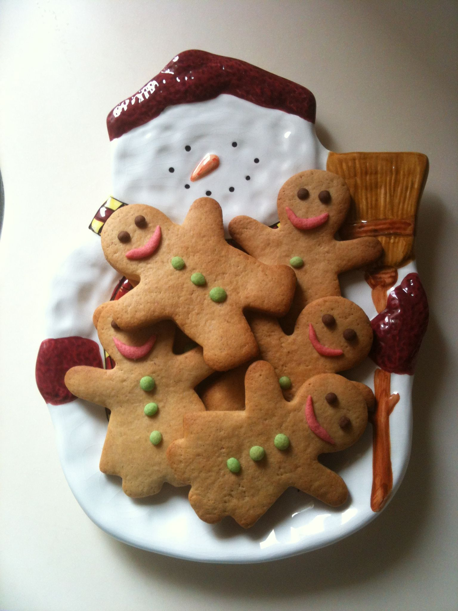 No Icing Gingerbread Man Cookies