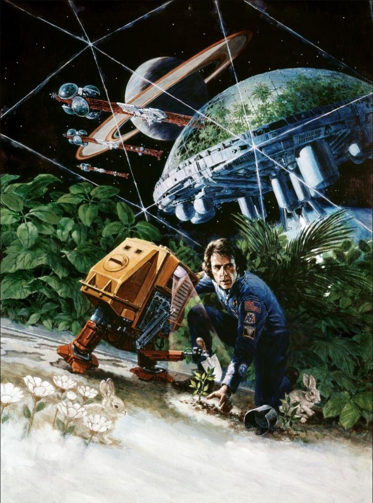 Visionneuse De Silent Running 70s Sci Fi Art Science Fiction Movie Science Fiction Illustration