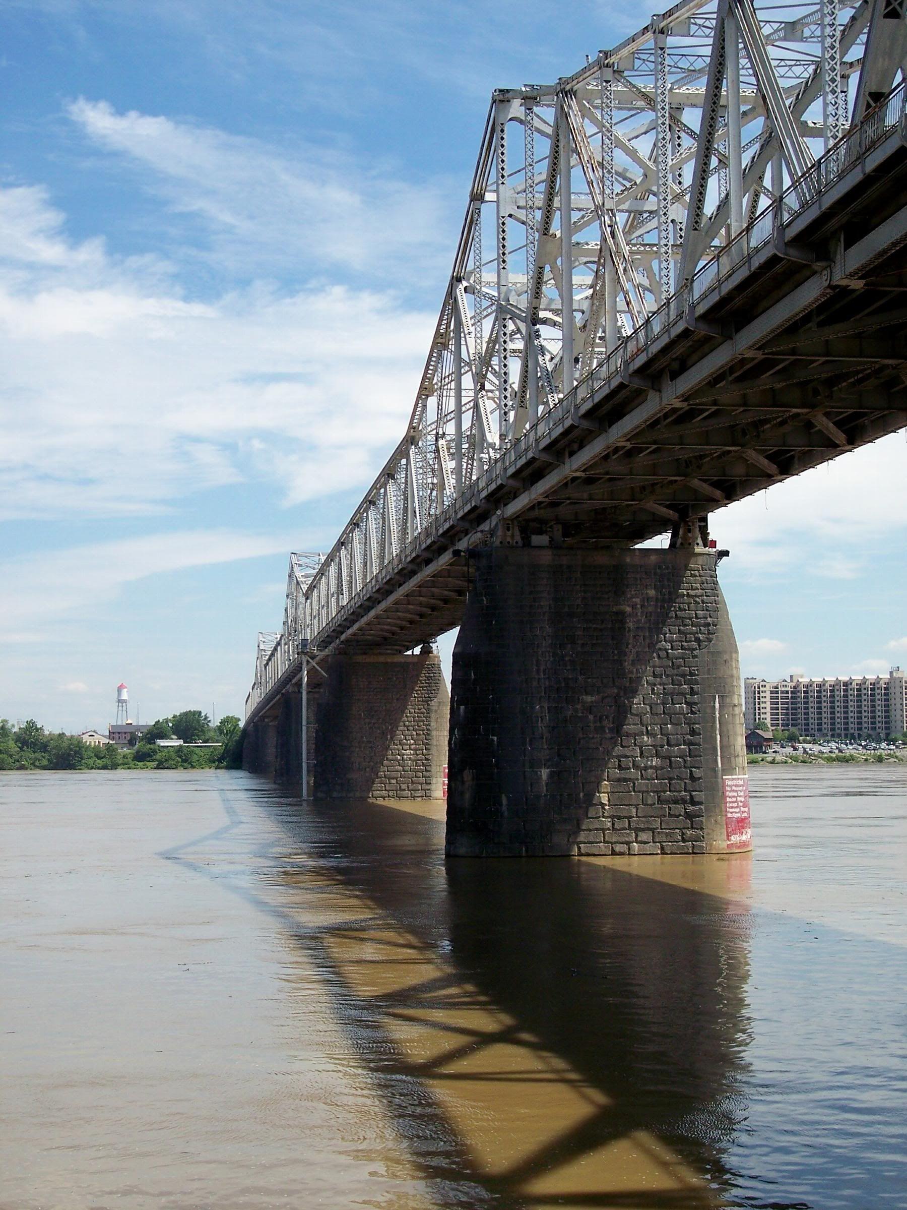 Ohio River Bridge Louisville Looking Towards Indiana