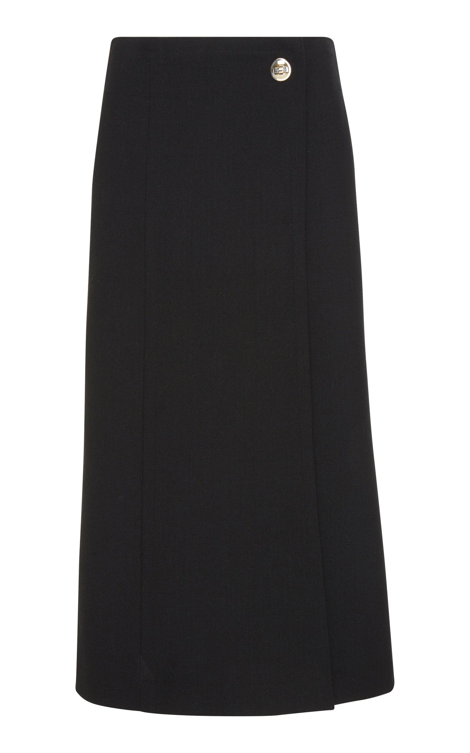 dc84c5dfa Slit Wool-Crepe Midi Wrap Skirt by GIVENCHY Now Available on Moda Operandi