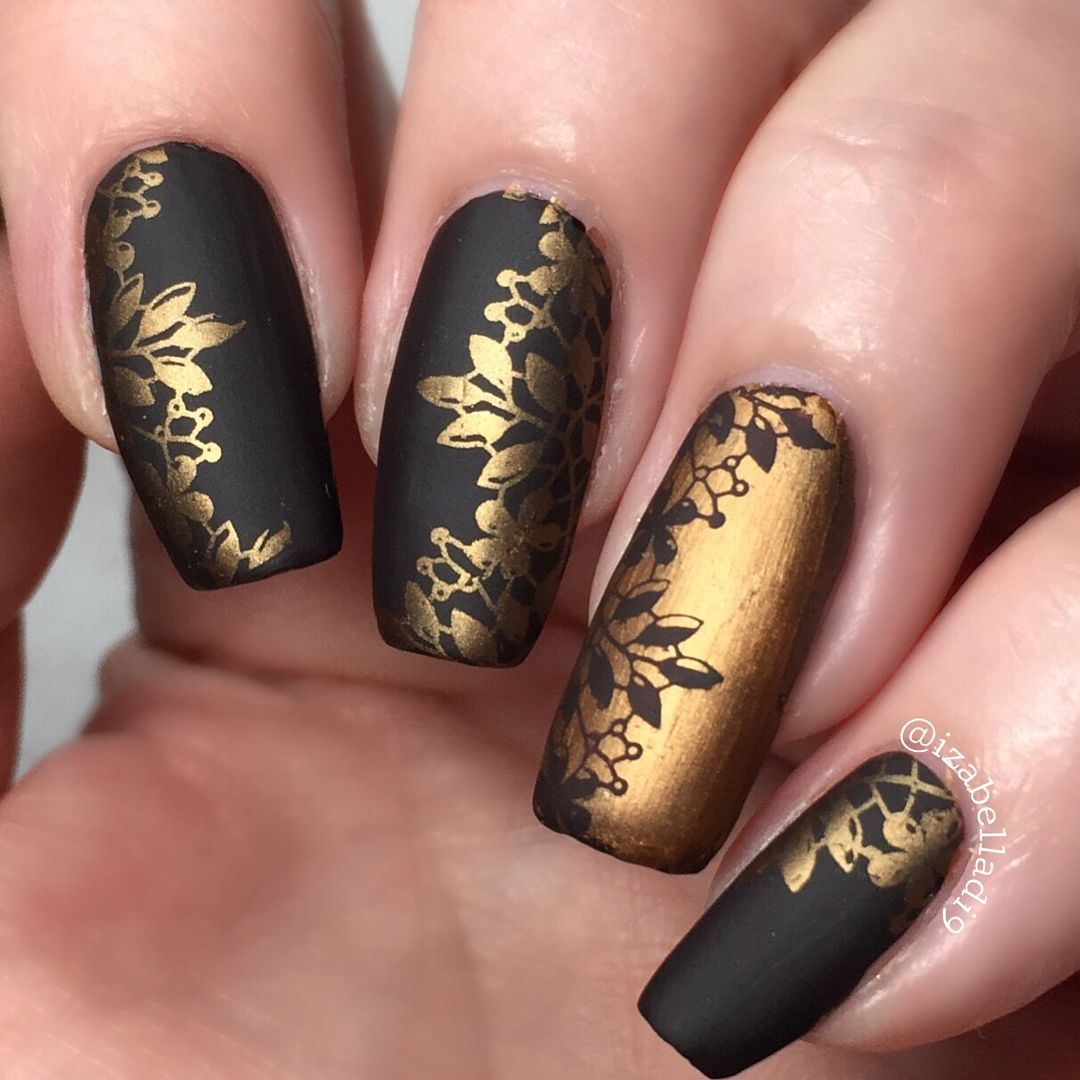 Today I Used Opi Shh It S Top Secret Moyou London Whiskey Sour Stamping Polish And Moyou London Lace Collection 04 Sta Stamping Nail Art J Nails Vegas Nails