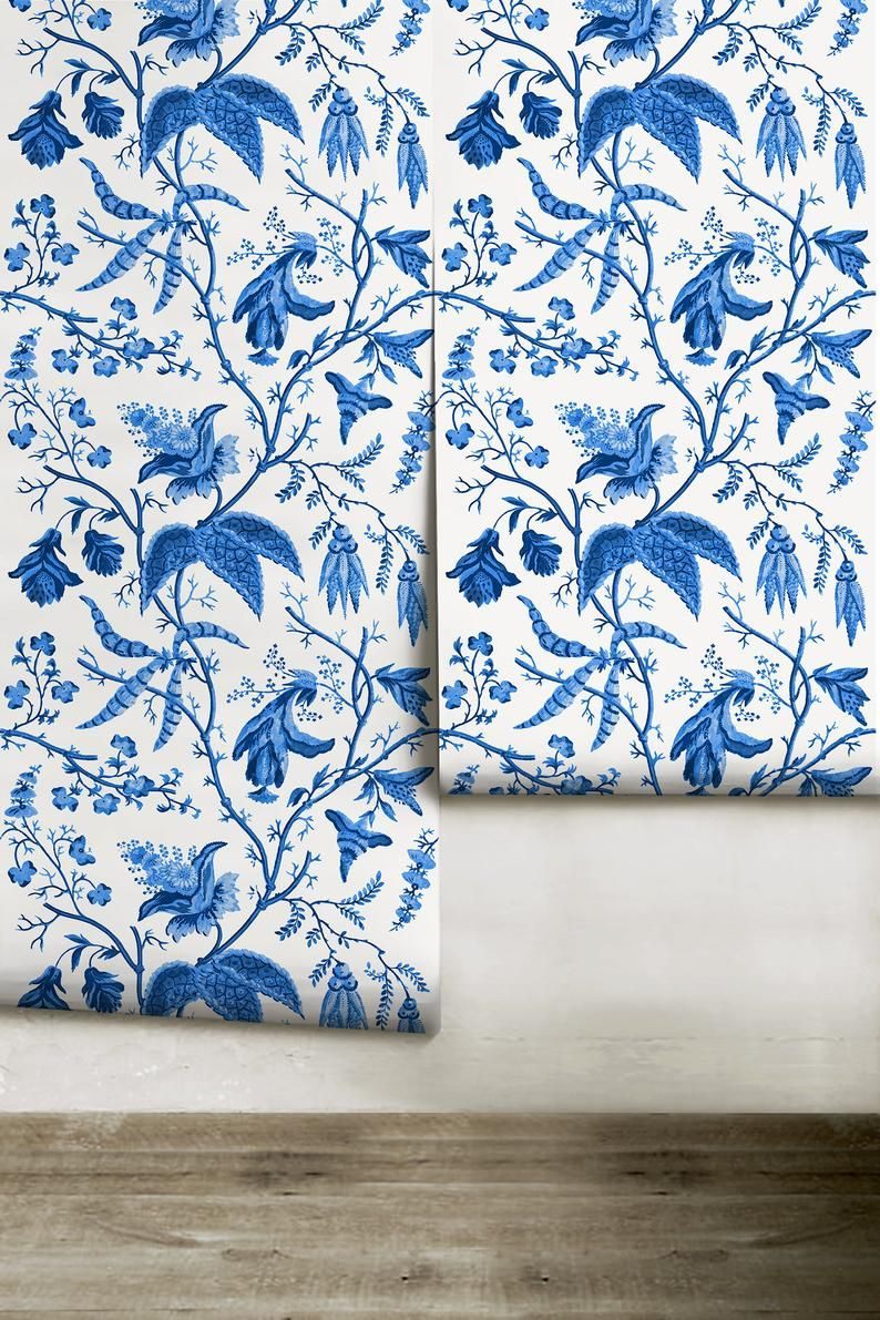 Chinoise Blue Peel N Stick Or Traditional Wallpaper Etsy In 2020 Traditional Wallpaper Couple Wallpaper Wallpaper