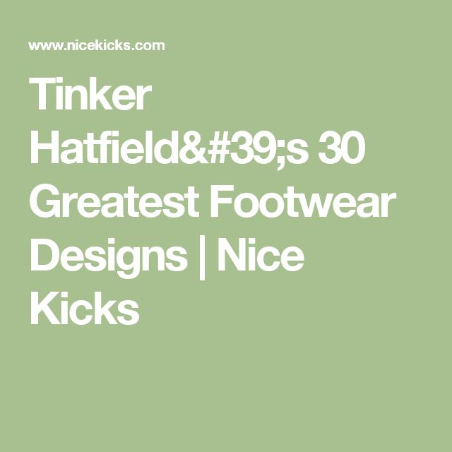 0513b019e7208 Tinker Hatfield s 30 Greatest Footwear Designs