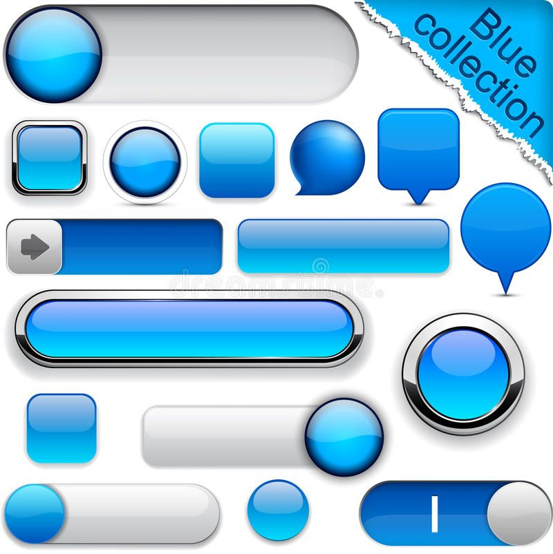Blue High Detailed Modern Buttons Blank Blue Web Buttons For Website Or App Ve Aff Modern Buttons Stock Images Free Logo Banners Buttons For Website