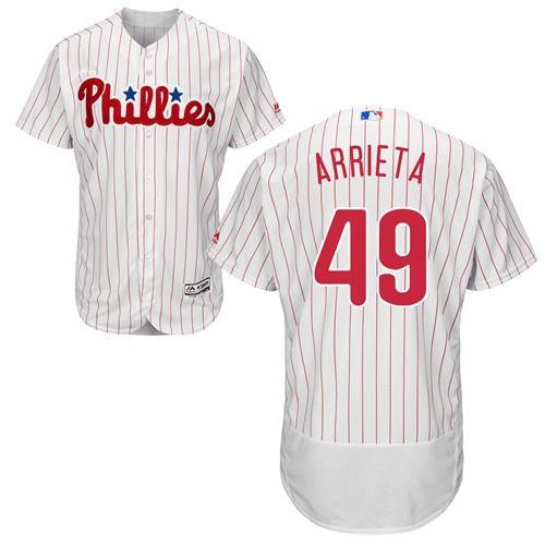 Men's Philadelphia Phillies #17 Pat Neshek White Home Stitched MLB Majestic Flex Base Jersey