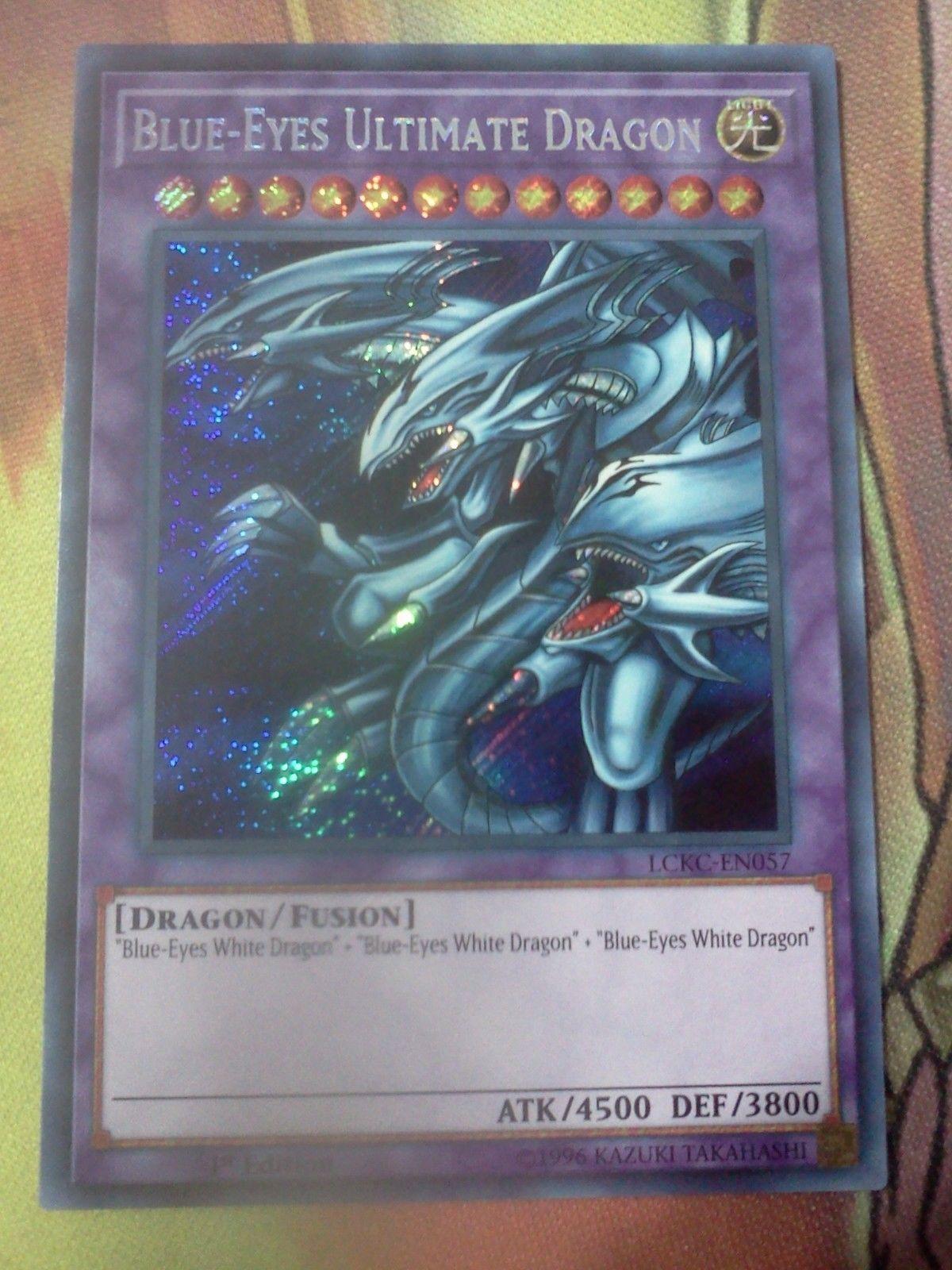 Yugioh Blue-Eyes Ultimate Dragon LCKC-EN057 1st Edition Secret Rare Near Mint