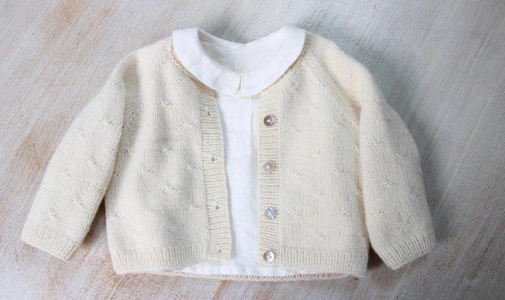 b22a5e5bcf5615 38   Princess Charlotte Cardigan Knitting pattern by Florence Merlin