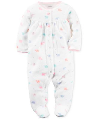 Black//White Carters Baby Girls Footed Coverall Preemie