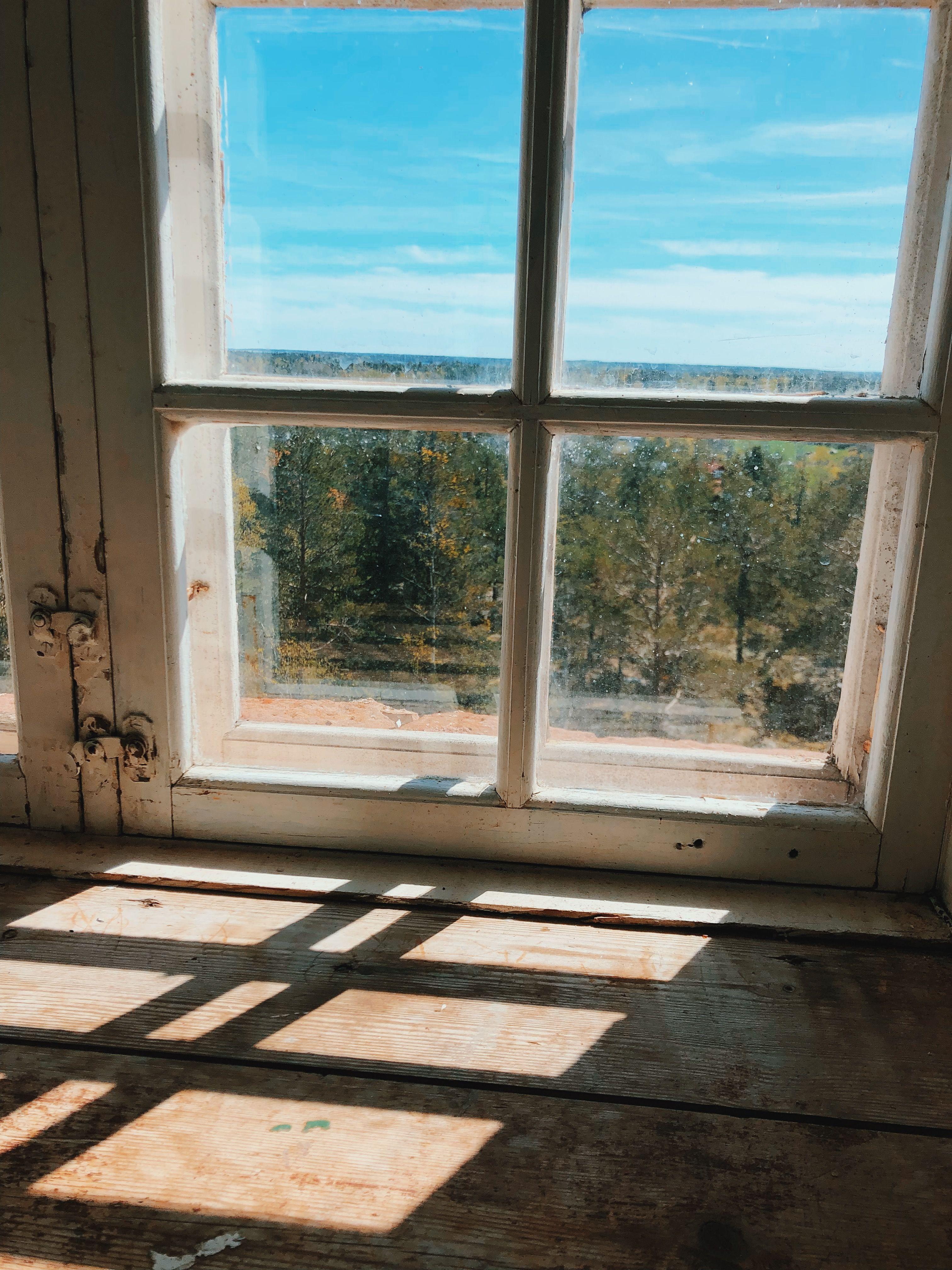 solljus genom fönster