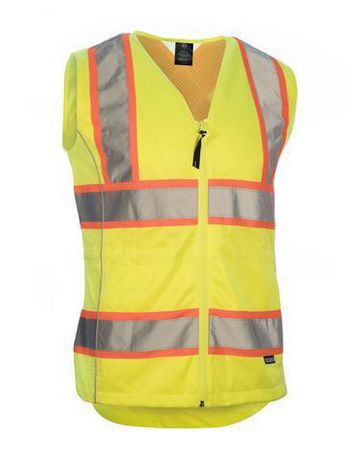 Forcefield Ladies Safety Vest Lime Xl Safety Vest