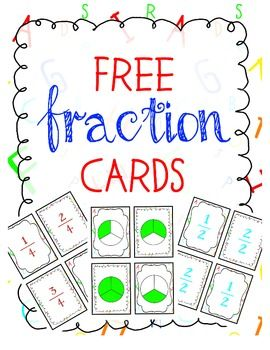 Fraction Cards - perfect for playing games like memory and war!