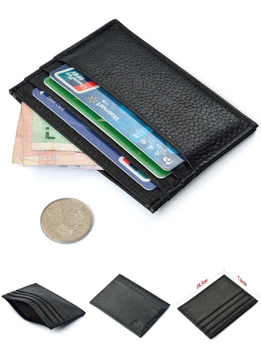 24 Cards Leather Credit Debit ID Business Card Holder Pocket Wallet Purse Sleeve