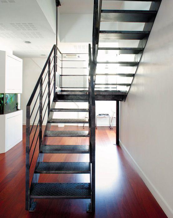 escalier m tallique au design industriel photo dt37 esca 39 droit 2 quartiers tournants avec. Black Bedroom Furniture Sets. Home Design Ideas