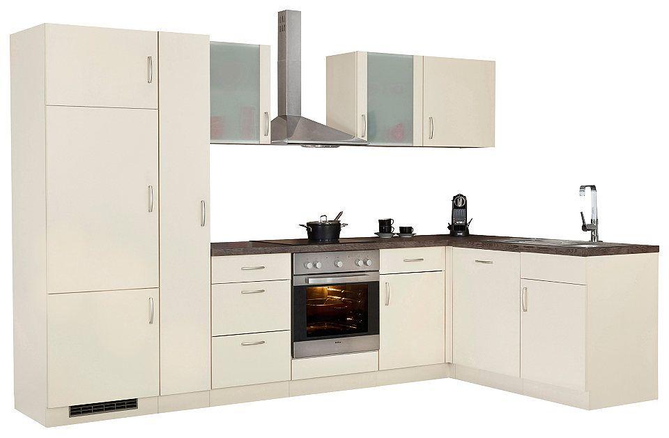 Winkelküche »Brüssel«, mit E-Geräten, Stellbreite 310 x 170 cm - küchenzeile 240 cm mit geräten